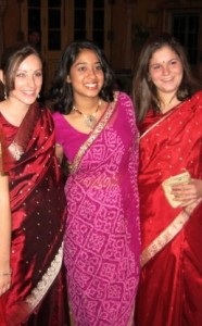 This is me (far left) at my final banquet during my semester abroad in Jaipur in Fall 2007